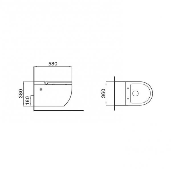 Унитаз подвесной MEER MR-2111 с импульсной системой смыва без бачка