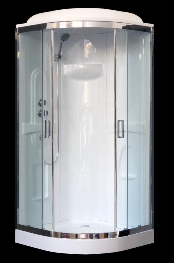 Душевая кабина Royal Bath RB 90HK1-T-CH 90x90 стекло прозрачное