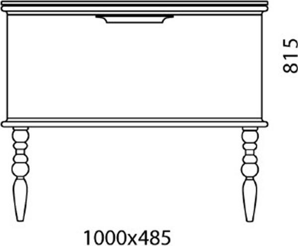 Тумба с раковиной Edelform Decora 100 жемчужно-бежевый глянец