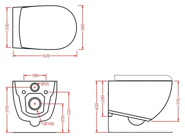 Унитаз подвесной ArtCeram File 2.0 FLV004 безободковый с сиденьем микролифт Slim