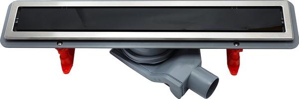 Душевой лоток Pestan Confluo Premium Line 650 черное стекло/сталь