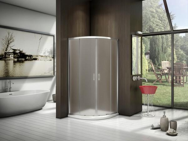 Душевой уголок Good Door Latte R-90-G-WE 90x90 матовый хром, стекло рифленое