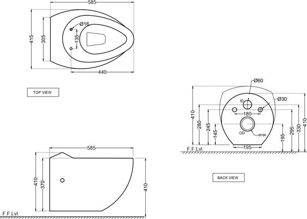 Унитаз подвесной Jaquar Fusion FSS-WHT-29951