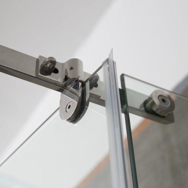 Душевой уголок пятиугольный Alex Baitler AB 215-90 90х90 профиль Хром стекло прозрачное
