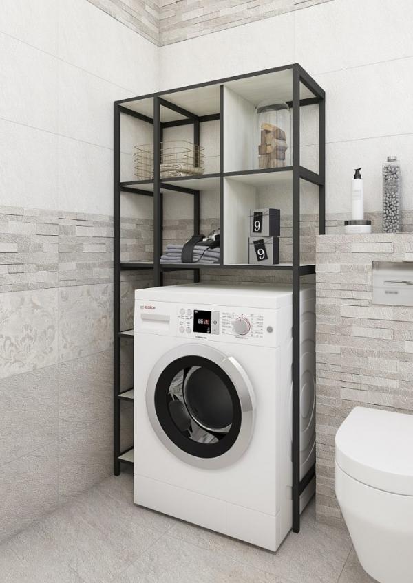 Стеллаж Sanflor Лофт №1 для хранения над стиральной машиной