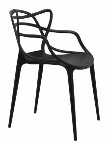 Стул пластиковый DOBRIN LMZL-PP601 черный