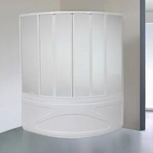 Шторка на ванну Bas Риола 6 ств., пластик
