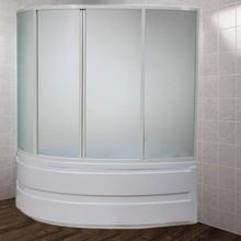 Шторка на ванну Bas Сагра 4 ств., стекло