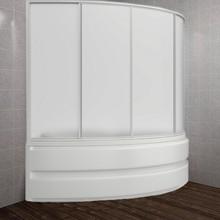 Шторка на ванну Bas Сагра 4 ств., пластик