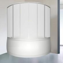 Шторка на ванну Bas Мега 6 ств., пластик
