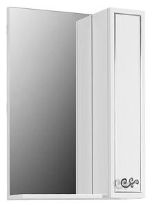 Зеркало-шкаф Belux Атолл 55 белый, молдинг серебро R