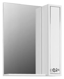 Зеркало-шкаф Belux Атолл 65 белый, молдинг серебро R