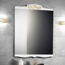 Зеркало Belux Порто 70 белое с золотом