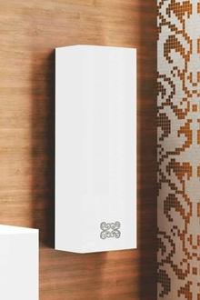 Шкаф-пенал La Beaute Moselle 40 белый, фурнитура хром R