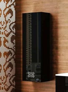 Шкаф-пенал La Beaute Moselle 40 черный, фурнитура хром L