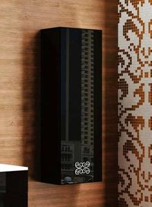 Шкаф-пенал La Beaute Moselle 40 черный, фурнитура хром R