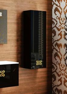 Шкаф-пенал La Beaute Moselle 40 черный, фурнитура золото R