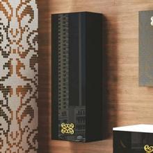 Шкаф-пенал La Beaute Moselle 40 черный, фурнитура золото L