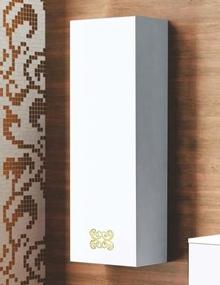 Шкаф-пенал La Beaute Moselle 40 белый, фурнитура золото L