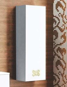 Шкаф-пенал La Beaute Moselle 40 белый, фурнитура золото R
