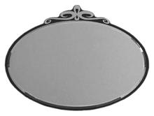 Зеркало La Beaute Charante 100 черное, декор хром