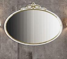 Зеркало La Beaute Charante 100 белое, декор золото