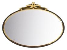 Зеркало La Beaute Charante 100 черное, декор золото