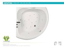 Акриловая ванна Aquatika Тема 140x140 Standart без гидромассажа