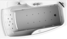 Акриловая ванна Radomir Аризона Комфорт Chrome левая, с фронтальной панелью