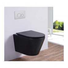 Унитаз подвесной безободковый ESBANO CLAVEL (Матовый Черный) с сиденьем Микролифт