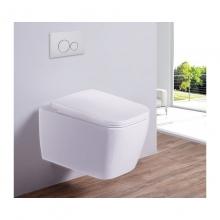 Унитаз подвесной безободковый ESBANO TIRON-С белый с сиденьем Микролифт
