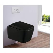 Унитаз подвесной безободковый ESBANO TIRON-С матовый черный с сиденьем Микролифт