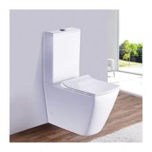 Унитаз напольный безободковый ESBANO DUERO-С белый с сиденьем Микролифт