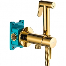 Гигиенический душ со смесителем ALMAes Benito AL-859-08 Золото С ВНУТРЕННЕЙ ЧАСТЬЮ