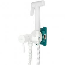Гигиенический душ со смесителем ALMAes Benito AL-859-06 Белый С ВНУТРЕННЕЙ ЧАСТЬЮ