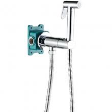 Гигиенический душ со смесителем ALMAes Agata AL-877-01 хром С ВНУТРЕННЕЙ ЧАСТЬЮ