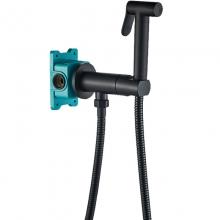 Гигиенический душ со смесителем ALMAes Agata AL-877-05 Черный матовый С ВНУТРЕННЕЙ ЧАСТЬЮ