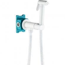 Гигиенический душ со смесителем ALMAes Agata AL-877-06 Белый матовый С ВНУТРЕННЕЙ ЧАСТЬЮ