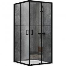 Душевой уголок Abber Schwarzer Diamant 100х100 AG02100B профиль Черный стекло прозрачное