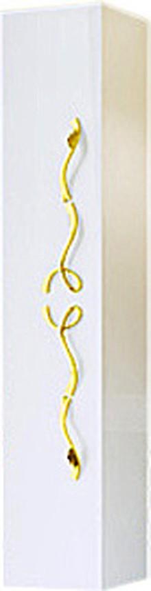 Шкаф-пенал Clarberg Due Amanti 25 белый, ручки золото