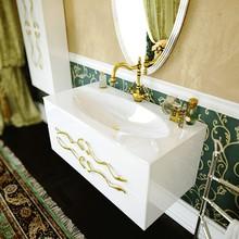 Тумба с раковиной Clarberg Due Amanti 100 белый, ручки золото