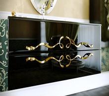 Тумба с раковиной Clarberg Due Amanti 100 черный, ручки золото