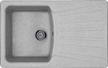 Мойка кухонная Whinstone Веста 1B 1D серый