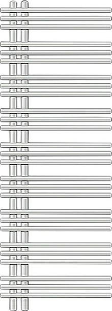 Полотенцесушитель электрический Zehnder Yucca asymmetric YAER-130-050/RD белый, правый
