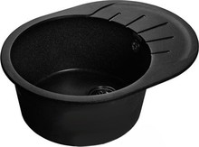 Мойка кухонная GranFest Rondo GF-R580L черный