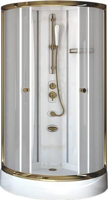 Душевая кабина Radomir Паола 1 Gold без г/м, стекло матовое