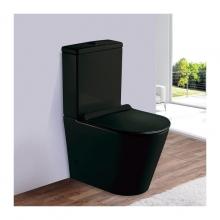 Унитаз напольный безободковый ESBANO ALAGON-С (Матовый черный) с сиденьем Микролифт
