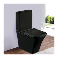 Унитаз напольный безободковый ESBANO CRISAN (Матовый черный) с сиденьем Микролифт