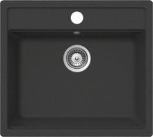 Мойка кухонная Whinstone Немос 1B черный металлик