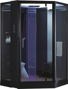 Душевая кабина Orans SR-89106S черная, с баней
